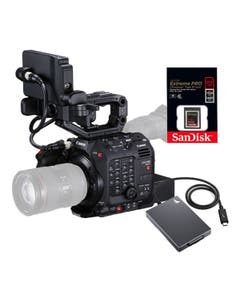 Canon EOS C500 Mark II Cinema Camera with 2x 512 Sandisk CFExpress Cards and Readers