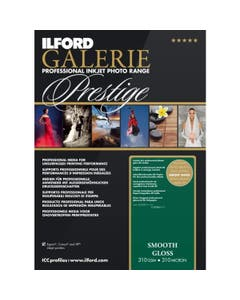 Ilford Galerie Prestige Smooth Gloss Paper A2 (25 Sheets)