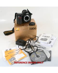 Nikon D200 Digital SLR with Box and Accessories (Pre-Owned)