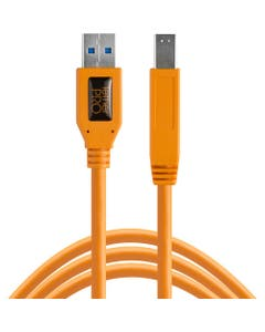 Tether Tools TetherPro SuperSpeed USB 3.0 Male A to Male B Cable (4.6m, High-Visibility Orange)